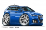 alfa romeo 159 SW blue
