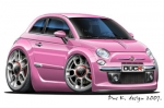 FIAT 500 cartoon car 8