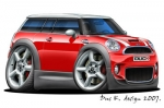Mini Clubman cartoon car 1