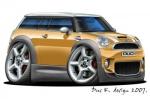 Mini Clubman cartoon car 5