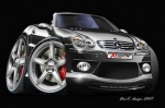 MERCEDES-SL-cartoon-car