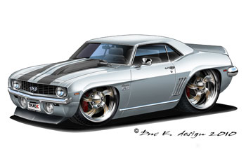chevy camaro ss cartoon car