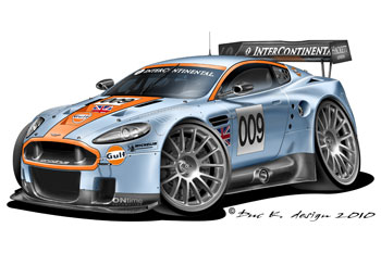 Aston Martin on Aston Martin Dbr9 Gulf Oil Racing Added To The Cartoon Cars   Aston