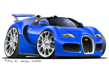 bugati veyron cartoon car