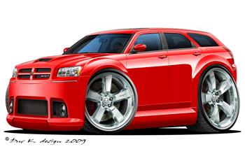 2008 dodge magnum srt8 added to the cartoon cars dodge gallery. Black Bedroom Furniture Sets. Home Design Ideas