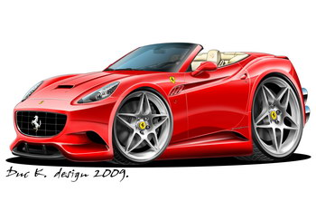 ferrari california cartoon car