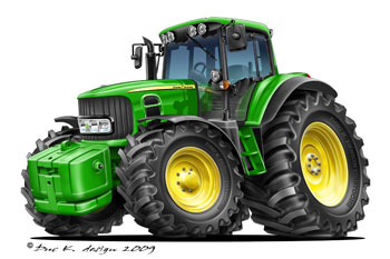 john deere cartoon tractor
