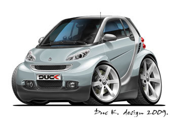 SMART cartoon car