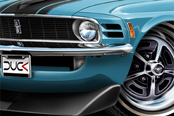 Mustang BOSS 302 cartoon car