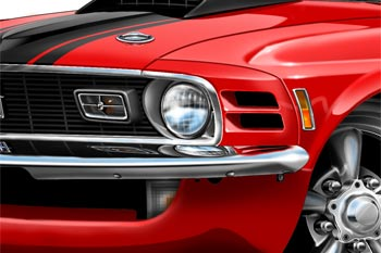 Mustang MACH 1 cartoon car