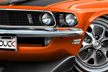 69 Mustang BOSS 302 cartoon car