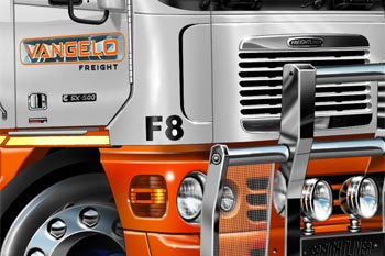 freightliner cartoon truck