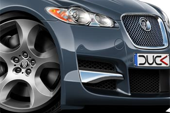 JAGUAR XF cartoon car