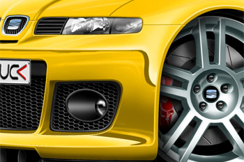 LEON CUPRA R cartoon car