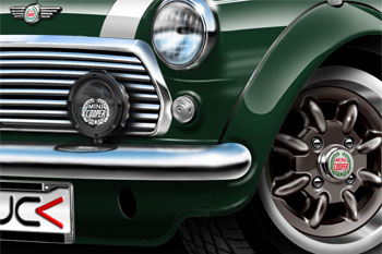 Mini Cooper cartoon car