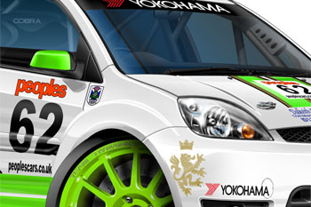 Racing Fiesta ST cartoon car