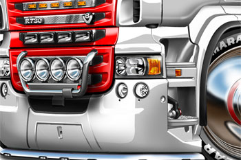 Scania R-730 cartoon truck