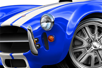 SHELBY COBRA cartoon car