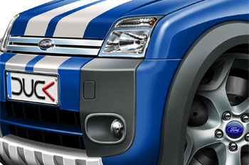 Ford transit connect cartoon car