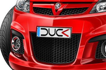 VECTRA VXR cartoon car
