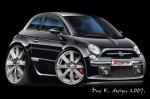 cartoon car FIAT-500