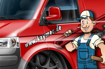 VW T5 Kaymer cartoon car